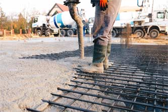 Mesh reinforcement concreting