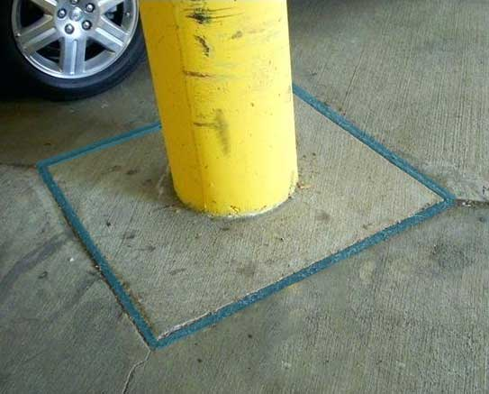 isolation joint in a car park